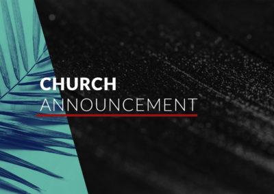 Church Family Announcement
